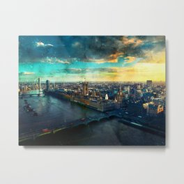 thames-london-river-uk-city Metal Print