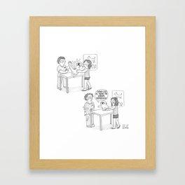 Mochi en el veterinario Framed Art Print