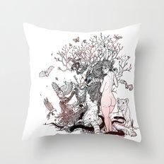 Lilith tastes. Throw Pillow