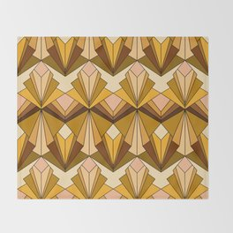 Art Deco meets the 70s Throw Blanket