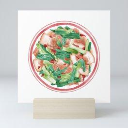 Double Cooked Pork Slices   回锅肉 Mini Art Print