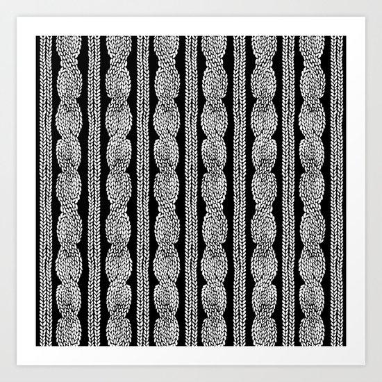 Cable Row B Art Print