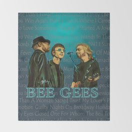 Bee Gee's Poster Throw Blanket
