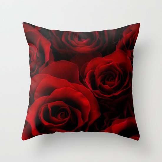 Red Rose Decorative Pillow : Red Roses Throw Pillow by Ann Garrett Society6