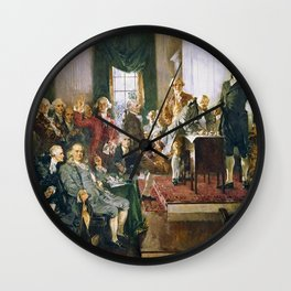 Signing Of The Constitution Wall Clock