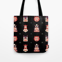 Kitty Kat Head Patterns with Dingbats Tote Bag