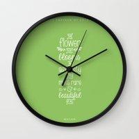 mulan Wall Clocks featuring Mulan by Nikita Gill