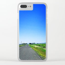 Summer Road Clear iPhone Case