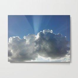 Light Beam Metal Print