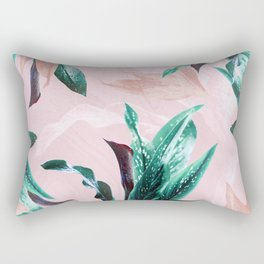 Tropical Floral on Pink. Odessa Calla Lily Rectangular Pillow