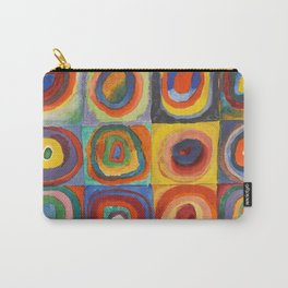 COLOR STUDY, SQUARES WITH CONCENTRIC CIRCLES - WASSILY KANDINSKY Carry-All Pouch