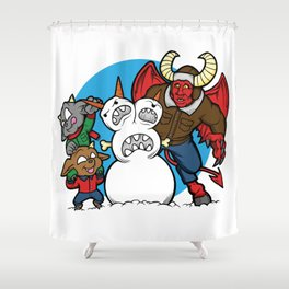 Hell Freezes Over Snowman Shower Curtain