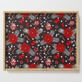 Christmas decoration pattern design Serving Tray