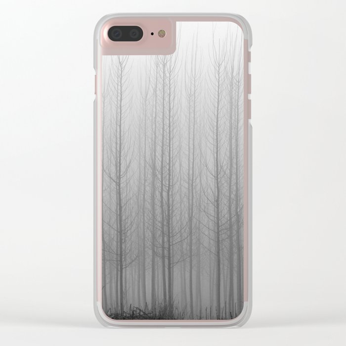"""Rectilineorum"". Bw Clear iPhone Case"