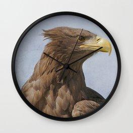 Tawny Eagle Wall Clock