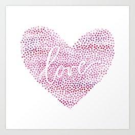 Dots and Love Art Print