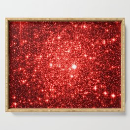 GalaXy : Red Glitter Sparkle Serving Tray