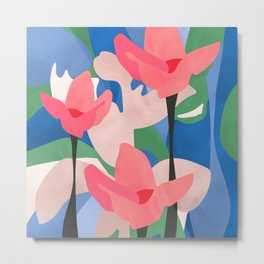 From the mud of adversity grows the lotus of joy Metal Print