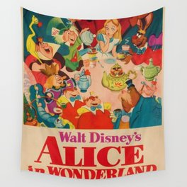 1951 Vintage Alice in Wonderland US Market Film Movie Poster Wall Tapestry