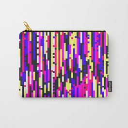 Colorful Digital Glitch Art Carry-All Pouch