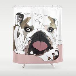 English Bulldog Love Shower Curtain