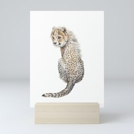Watercolor Cheetah Painting Mini Art Print