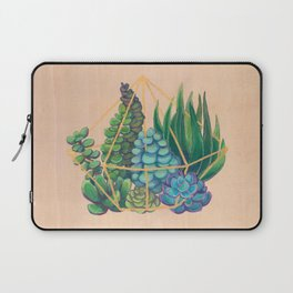 Geometric Terrarium 1 Acrylic on Wood Painting Laptop Sleeve
