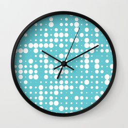 white polka dots Wall Clock
