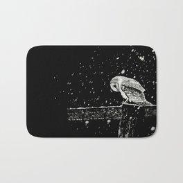 Snowfall at Night (Owl) Bath Mat