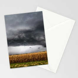 Corn Field - Storm Over Withered Crop in Southern Kansas Stationery Cards