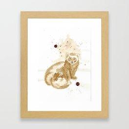 Coffee Marten Framed Art Print