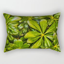 Top View Leaves Photo Rectangular Pillow