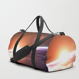 Earth and Rising Sun Duffle Bag