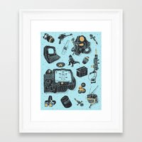 fallout Framed Art Prints featuring Artifacts: Fallout by Josh Ln
