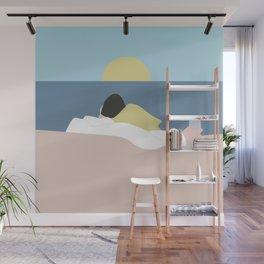 Feelings into sunset Wall Mural