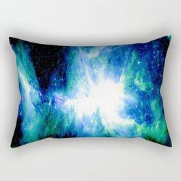 Orion Nebula Blue & Green Rectangular Pillow