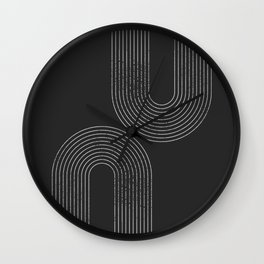 Chalk Brush Rainbows Wall Clock