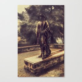 Stevie Ray Vaughan Statue - Austin, Texas - Graphic 2 Canvas Print