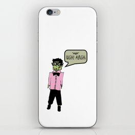 Hipster Frank Color iPhone Skin