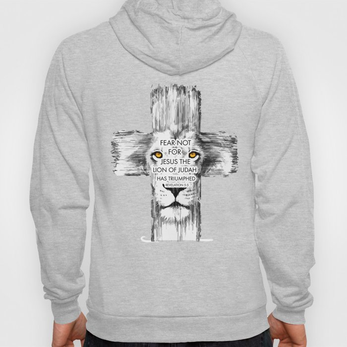 Lion Cross jesus revelation Hoody