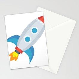 Space Rocket Emoji Stationery Cards