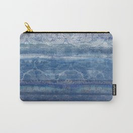 Textural Blue Carry-All Pouch