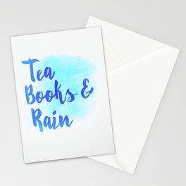 Tea, Books & Rain Stationery Cards