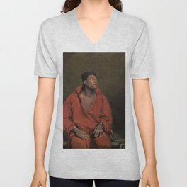 African American Masterpiece The Captive Slave by John Philip Simpson Unisex V-Neck