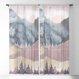 Mauve Vista Sheer Curtain