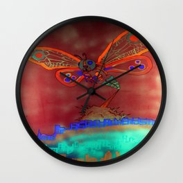 Bad Ash Mothra Funker Full (Wobblesauce) Wall Clock