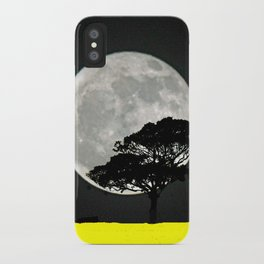 Lone Tree And Moon. iPhone Case