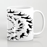dinosaurs Mugs featuring Dinosaurs by Trokola