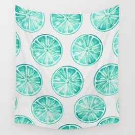 Turquoise Citrus Wall Tapestry