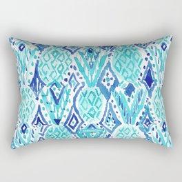 FINA PINA TRIBAL Aqua Pineapples Rectangular Pillow